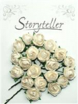 Storyteller - Bestemor rose 6314 - 25mm - Hvit