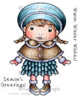 LA-LA LAND CRAFTS STAMPS 5229 - WINTER WISHES MARCI