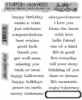 TIM HOLTZ - STAMPERS ANONYMOUS CMS155 - SIMPLE SAYINGS