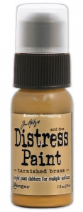 TIM HOLTZ DISTRESS PAINT MET - TARNISHED BRASS 36487