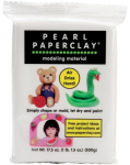 DELIGHT AIR DRY PAPERCLAY - WHITE PEARL 16 OZ - PAPIRLEIRE