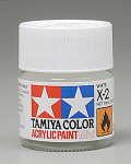 Tamiya 81502 Acrylic Mini X-2 White 1/3 oz