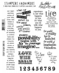 TIM HOLTZ - STAMPERS ANONYMOUS CMS110 - STUFF TO SAY