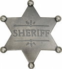 Sheriff Star Sølv