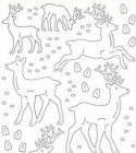 STARFORM - STICKERS ANIMALS WITH GLITTER - SILVER
