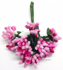WILD ORCHID - BEAD BERRY SPRAY CLUSTERS 294 - BABY PINK