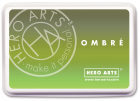 HERO ARTS - OMBRE INK PAD AF320 - LIME TO FOREVER GREEN