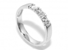 Superdeal! Alliansering med diamanter 0.21 carat w.si (585)
