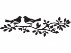 CR1264 - MARIANNE DESIGN CRAFTABLES - BIRDS SILHOUETTE