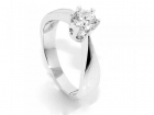 Superdeal! Diamantring 0.50 tw.si GIA (585)