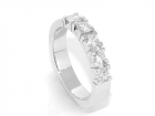 Superdeal! Alliansering med diamanter 0.50 carat w.si