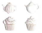 Melissa Frances Resin - CX870 - Tea Time Applique Set