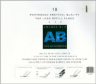AB; Postbound Page Protectors