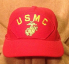Cap USMC Red w/eggs