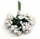 WILD ORCHID - BEAD BERRY SPRAY CLUSTERS 297 - WHITE