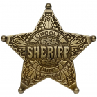 Sheriff Badge Lincoln