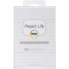 PROJECT LIFE - CARDSTOCK 93741 - LINED CARDS 4X6 WHITE