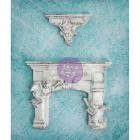 MELISSA FRANCES RESIN - RE8-92036 - CHERUB FIREPLACE & SHELF