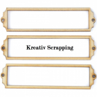 KAISERCRAFT - WOOD  EMBELLISHMENTS - FL332 - BOOKPLATES SQUARE