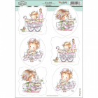 WEE STAMPS - TOPPER SHEET 016 - ITS A GIRL