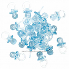 KS - BABY SHOWER 002-2 - MINI PACIFIERS - BLUE - Smukk