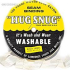 SEAM BINDING RIBBON - HUG SNUG 005 - WINTER WHITE PR METER