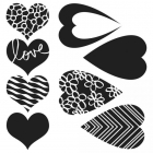THE CRAFTERS WORKSHOP - TCW6X6-269 - MIX & MATCH HEARTS