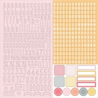 CHICKANIDDY CRAFTS - TWIRLY GIRLY - ALPHA STICKERS 12x12