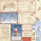 MAJA DESIGN - VINTAGE WINTER 486 - DIE CUT SHEET