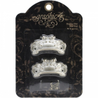 GRAPHIC 45 - STAPLES 4500842 - ORNATE METAL DOOR PULLS - SHABBY