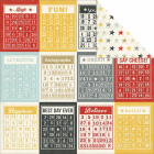 SIMPLE STORIES - SAY CHEESE 3316 - BINGO  CARDS & STARS 12x12