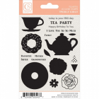 CHICKANIDDY CRAFTS - TWIRLY GIRLY - STAMPS - TEA PARTY
