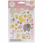 SIMPLE STORIES - HELLO BABY GIRL 4158 - STICKERS SHEETS