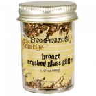 STAMPENDOUS - FRAN-TAGE - CRUSHED GLASS GLITTER - BRONZE