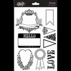 GLITZ DESIGN STAMPS - S2723 - LOVE GAME
