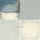 PION DESIGN - WINTERTIME 6X6 PD3904F - NORTHERN LIGHTS