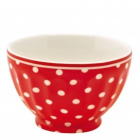 French bowl spot red small