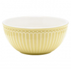 Cereal bowl Alice pale yellow