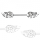 Angel wings gem nipplebar