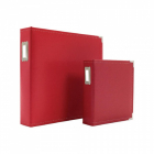 Sn@p! Leather Binder 6x8 Red