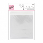 clear plastic card bags 6X6