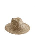 Straw hat, natural 34x31x12