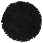 Feather pad, black D:46 cm