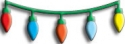 CHERRY LYNN DESIGNS - B131 - CHRISTMAS LIGHTS SWAG - 2 PÅ LAAGER
