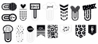 Basics - Black & White Designer Clips