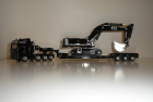 Siku 1847 Blackline Heavy Load Transporter with Low Bed Trailer