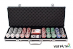 500 Royal Flush Cash og Turnering Chips 13,5g
