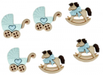 BUTTONS - DRESS IT UP 5824 - HORSE & BUGGY - BOY