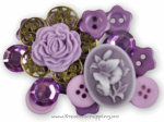BUTTONS - BLUMENTHAL LANSING - SHAPED 1568 - LACE INSPIRATIONS