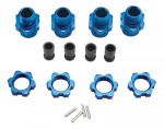 Traxxas 6856X 17mm Wheel Hub Set Short Blue Slash 4X4